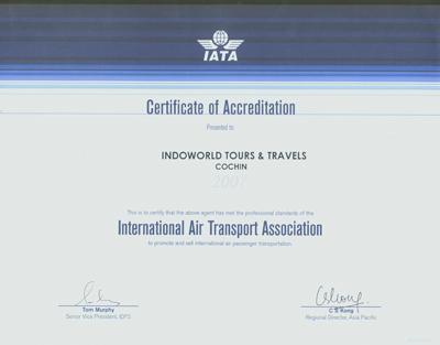 IATA-Certificate